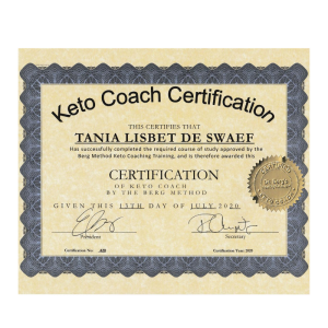 certificated Keto coach